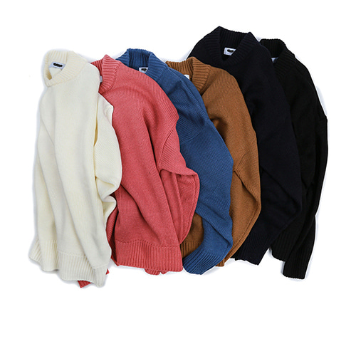 # heavy over knit (6color)