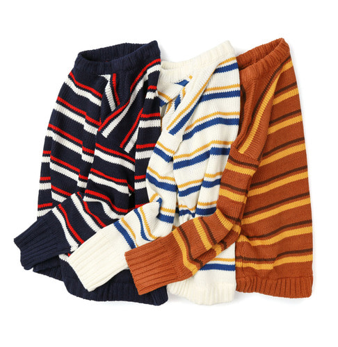 # acrylic stripe - knitwear  (3color)